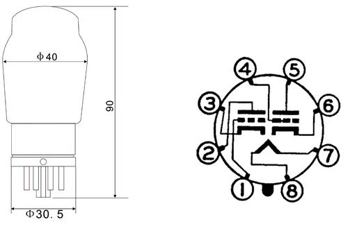 外形图及管脚接线图:外形图如图1所示,接线图如图2所示.